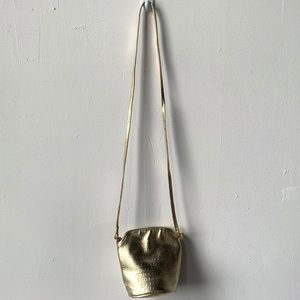Vintage gold croc embossed mini bag crossbody